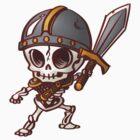 Chibi Skeleton Knight by Lorraine Schleter