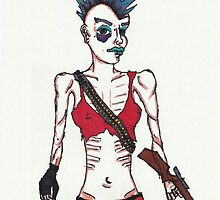 Zombie-Survivor Punk Girl by cinderadler