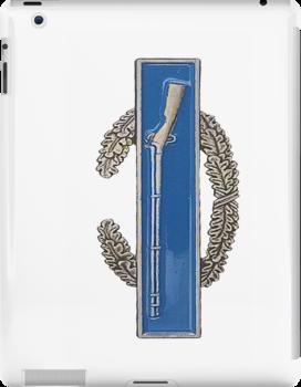 Combat Infantry Badge - CIB - iPad Case by Buckwhite