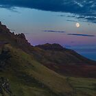 Almost full moon on isle of skye by Birgit Van den Broeck