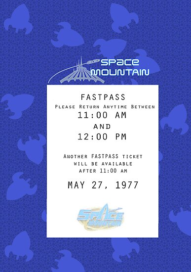 Space Mountain Fastpass by Margybear