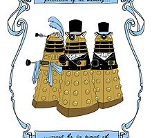 Pride and Prejudice and Daleks by mikaelaK