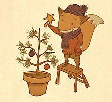 Christmas Fox by CodiBear8383