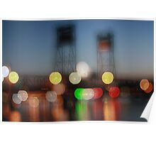 The Clyde River Bridge ~ at night Poster