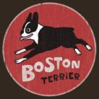 Boston Terrier Retro Style by Jenn Inashvili