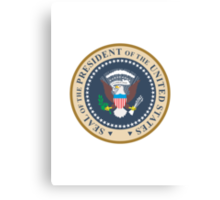 seal of the president of the united states of america  Canvas Print