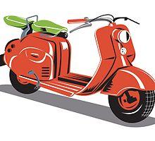 Vintage Motor Scooter Retro  by patrimonio