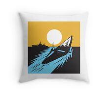 Submarine Boat Retro  Throw Pillow