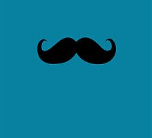 Funny Black Mustache 15 by Nhan Ngo