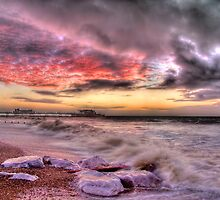 Worthing Beach Sunrise 1 - Boxing Day 2012 - HDR by Colin J Williams Photography