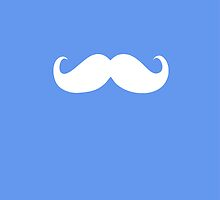 Funny white mustache 17 by Nhan Ngo