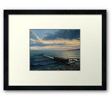 Sunset in Balchik Framed Print