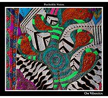 Om Vibration Black Ligth Photographic Print
