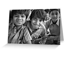 the vitality of india Greeting Card
