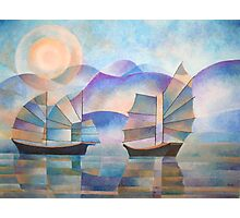 Shades of Tranquility - Cubist Junks Photographic Print