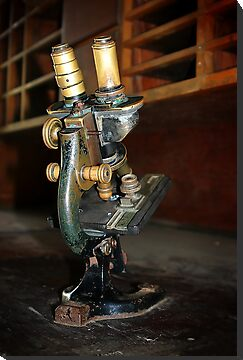 Old Microscope by Henrik Lehnerer