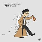 Drunk Castiel by whitmore55
