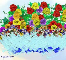 Fantasy Flowers in Basket by jkgiarratano