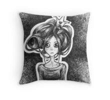 The weight of a crown Throw Pillow