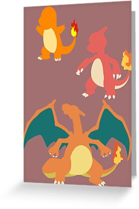 Minimalist Charmander Evolution  by Jessica Becker