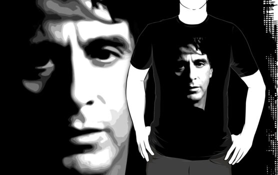 al pacino t-shirt  by parko
