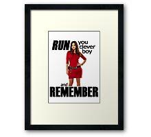 Run, You Clever Boy Framed Print