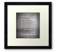 Do I Dare? Framed Print