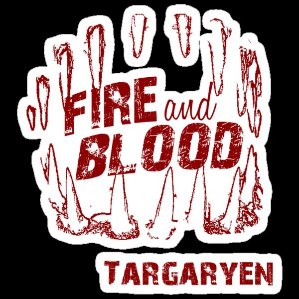 Fire and Blood Grunge tee by atlasspecter