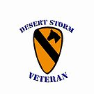 1st Cav Desert Storm Veteran -  iPhone Case by Buckwhite