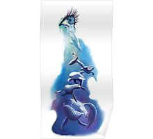 OCEAN TEARS water colour illustration print Poster