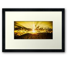 sunset on the mountain Framed Print