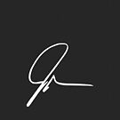 John Green Signature / Jscribble (Black Paper Texture) by runswithwolves