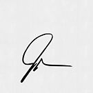 John Green Signature / Jscribble (White Paper Texture) by runswithwolves