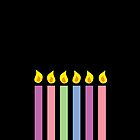 Birthday candles in different colours by jazzydevil