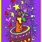 Birthday Blessings (on purple) by Sammy Nuttall
