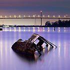 Clyde ship wreck by Grant Glendinning