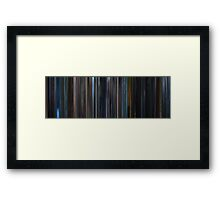Moviebarcode: Unbreakable (2000) Framed Print