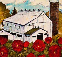Lancaster Red Rose & Barn by OriginalbyParis