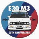 BMW E30 M3 25th Anniversary Roundel - Alpine White by Sharknose