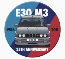BMW E30 M3 25th Anniversary Roundel - Nogaro Silver by Sharknose