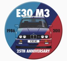 BMW E30 M3 25th Anniversary Roundel - Ghost Effect by Sharknose