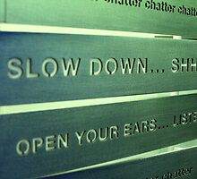 Slow Down.... by Laura  McGregor