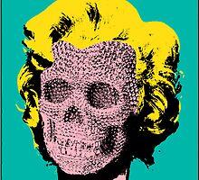 Marilyn Skull II by PrinceRobbie