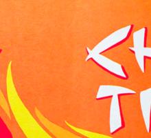 Vintage Detroit Chin Tiki Menu Cover Sticker