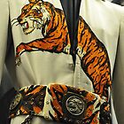 Elvis's Tiger Jump Suit Up Close by BLAKSTEEL