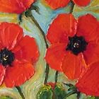 Tall Red Poppies by OriginalbyParis