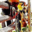 Riding The Fence iPad Case by ipadjohn