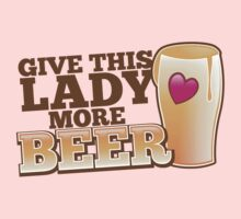 GIVE This lady more BEER with a pint and heart by jazzydevil