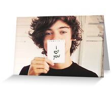 """Harry Styles One Direction """"I Love You"""" Greeting Card"""