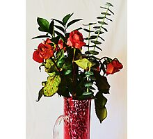 VASE OF RED AND GREEN Photographic Print